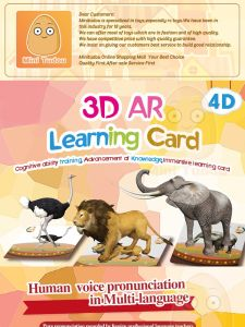 Magic 3D Stereo Card Toys 60PCS Cards Augmented Reality Play Early Learning Educational Interactive Educational Game
