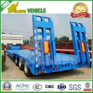 60t Hydraulic Ladder 3 Axles Low Loader Semi Trailer pictures & photos