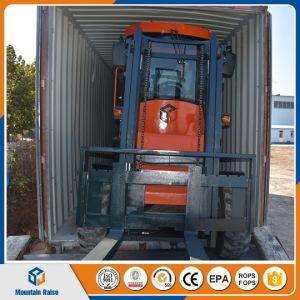 New 4WD Rough All Terrain Forklift with Rotating Fork pictures & photos
