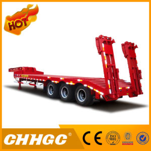 Chhgc Hot 3axle Low Bed Semi Trailer with Lower Gravity pictures & photos