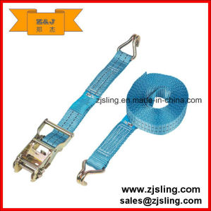 "1"" X 15′ Ratchet Strap W/ Vinyl Coated Wire Hooks pictures & photos"