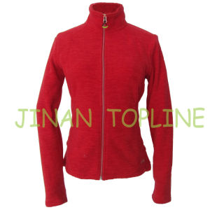Women Elastic Spandex Micro Fleece Fabric Jacket Sports Wear pictures & photos