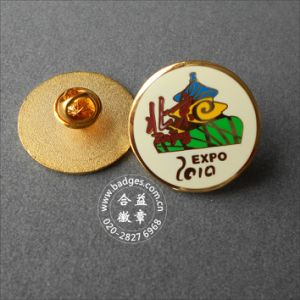 Round Enamel Pin, Organizational Gold Plated Badge (GZHY-LP-046) pictures & photos