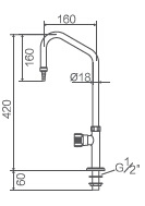 Single Swing Laboratory Faucet (WJH1312A) pictures & photos