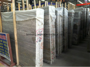 Iran Silver Grey Travertine for Tile Slab pictures & photos