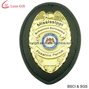 Custom Zinc Alloy Leather Military Badge (LM1023) pictures & photos
