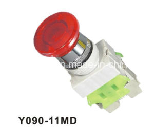 Y090-11md LED with Lamp Emergency Stop Moosh Room Pushbutton Switch pictures & photos