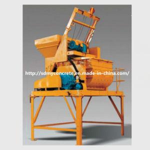 Js500 25m3/H Double-Horizontal-Shaft Forced Type Concrete Mixer