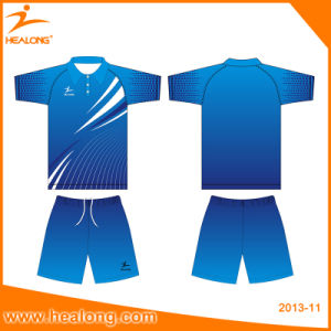 Healong Latest Digitally Sublimated Badminton Shirts pictures & photos