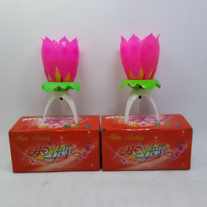 Hot Sale Trumpet Flower Birthday Candle pictures & photos
