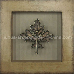 Framed Gold Leaf Oil Painting for Home Decoration (LHS0534) pictures & photos
