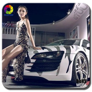 Tsautop Snow Camo Vinyl Camouflage Car Wrap pictures & photos