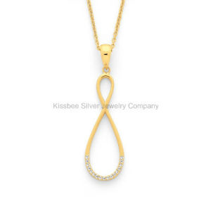 Hot Selling Silver Jewellery Infinity Pendant Brass Costume Jewelry (KP3029) pictures & photos