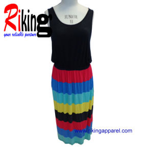 Fashion Ladies Garment Long Dress (RKD1377)