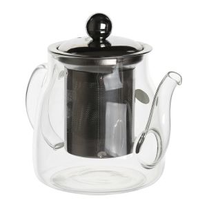 600 Ml High Alkali Resistance Glass Teapot with Steel Infuser pictures & photos