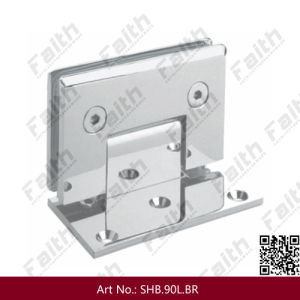 Excellent Quality Frameless Shower Glass Door Hinge with Offset Mounting Plate (SHB. 90L. BR) pictures & photos