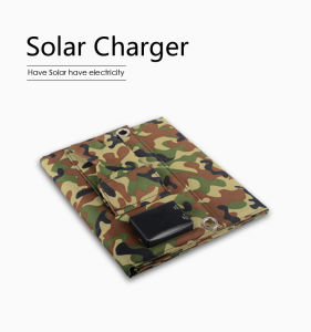Solar Panel Charger Dual USB Ports 5V 3.1A USB Charger for Mobile pictures & photos