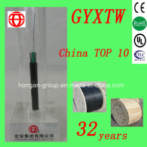 GYXTW-24 Core Outdoor Central Tube Optical Fiber Cable with Parallel Steel of Single Mode pictures & photos