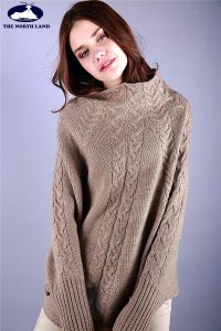 Cashmere Cable Pullover with Bat Sleeves pictures & photos