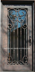 Wrought Iron Steel Security Entry Door Exterior Position pictures & photos