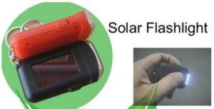 a Large Supply of Solar Plastic Key Button Rechargeable Flashlight pictures & photos