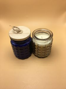 Good Quality Glass Jar Candle with Wooden Lid pictures & photos