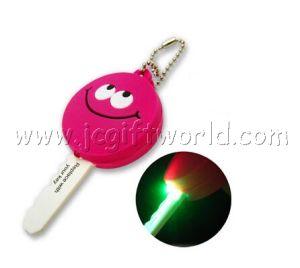 Custom Promotion Advertising LED Soft PVC Key Cap