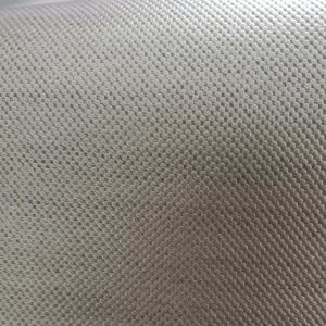 SGS Gold Certification PVC Leather Gray Printing Silver Shoe Leather pictures & photos