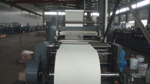 High Speed Web Flexo Printing and Cold Gluing Binding Production Line for Notebook Diary Student Exercise Book pictures & photos