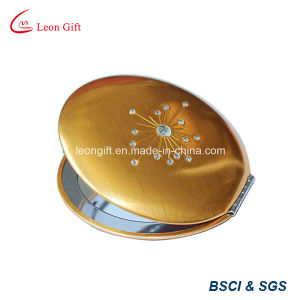 Best Selling Beauty Gold Round Folding Makeup Mirror pictures & photos