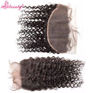 13X6 Lace Frontal Bleached Knots with Baby Hair Mongolian Deep Wave Lace Frontals pictures & photos