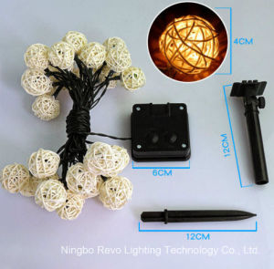 Solar Rattan Ball Fairy Lights for Christmas Outdoor (RS1013) pictures & photos