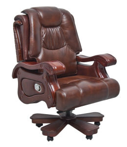 Classic Swivel Tufted Office Used Leather Chair (FOH-1313) pictures & photos