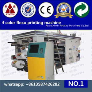 4 Color Flexo Graphic Printing Machine for Sticker pictures & photos