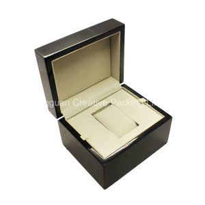 Custom High Gloss Lacquered Luxury Wooden Wrist Watch Packaging Box pictures & photos