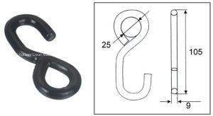 Expert Supplier of Metal Hardware, 25mm X 1000kg S-Hook for Ratchet Tie Down