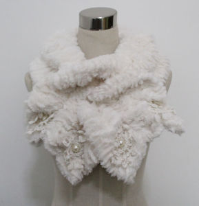 Lady Fashion Polyester Faux Fur Lace Scarf (YKY4365A-4) pictures & photos