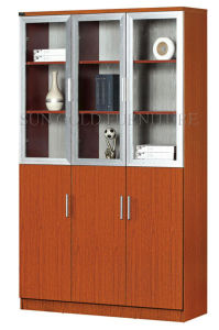 Three Glass Doors Filing Cabinet, Bookcase (SZ-FC009) pictures & photos