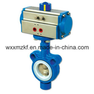 Wafer Butterfly Valves with Pneumatic Actuator (CE) pictures & photos