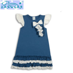 Zaxwear Own Design Navy Blue Small Girl Dresses/Infant Apparel pictures & photos