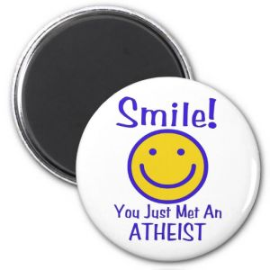 Latest Atheist Smiley Fridge Magnet pictures & photos