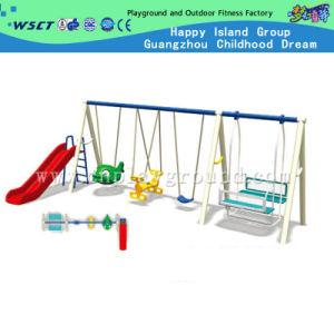 Kids Toy Plastic Slide Amusement Playground Equipment Swing Set (M11-10709) pictures & photos