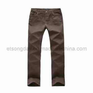 Dark Brown Cotton Spandex Men′s Trousers (GDP-07) pictures & photos