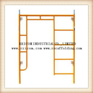 Yellow Painted H Frame Scaffoding and Scaffold Frame and Walk Through Scaffolding Frames pictures & photos