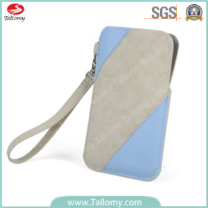 New Fashion Design Mobile Phone Pouch Leather Case for Nokia Xl with Lanyard