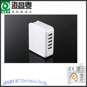 5V 6.8A 5 USB Ports Adapter (UL, FCC, CE, ROhs)
