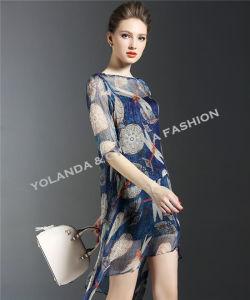 Irregular Style Silk Like Georgette Fashion Ladies Dress