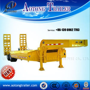 Tandem Axles Lowboy Trailer for Excavator Machinery Transportation pictures & photos