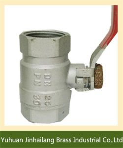Lead Free Forged Brass Ball Valve for Water with Steel Handle