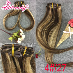 Peruvian Ombre Hair Extensions Clip in Human Hair pictures & photos